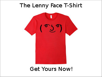 The Lenny Face T-Shirt - Get Yours Today!